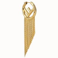 Fendi Fashion New Letter High Quality Tassel Hoop Long Earrings Accessories Golden