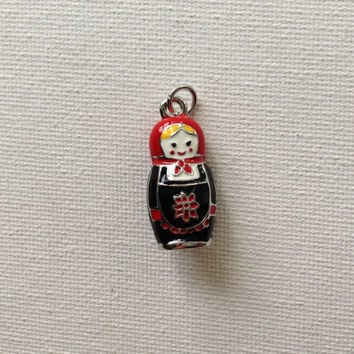 Russian doll matryoshka doll charm or pendant