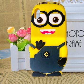 For iPhone 8 Cute 3D Cartoon Despicable Me Minions Silicone Case Cover For iPhone 5 5s 6S 6 7 8 Plus X Back Cover