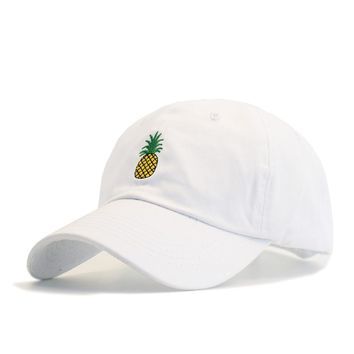 Hot Selling Men Women Pineapple Dad Hat Baseball Cap Polo Style Unconstructed Fashion