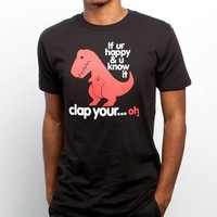Sad T Rex T-Shirt / Original Clap Your Oh T-Shirt on the redditgifts Marketplace