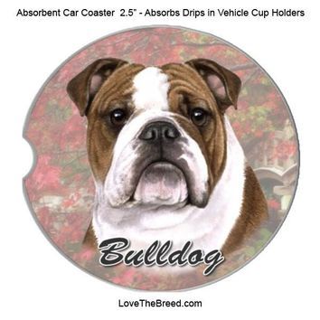 Bulldog Absorbent Car Coaster