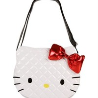 Hello Kitty® White Quilted Handbag