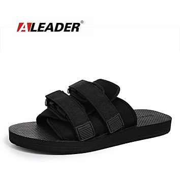 Aleader New 2017 Fashion Shoes For Men Visvi slippers Summer Casual Shoes Slides Outdoor Sandals Christo Slippers Edison Shoes