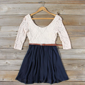 Timber Lace Dress in Navy