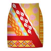 Multi Print Summer Skirt