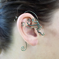Black Copper Wire Wrap Ear Wrap