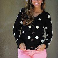 Dottie Hottie Sweater: Black | Hope's