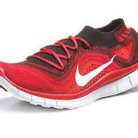 Nike Free Flyknit+ Men's Shoes Black/White/Red