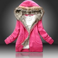 Fashionable and Warmly Long Sleeves Cotton Coat For Women