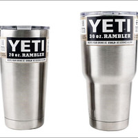NEW 2016 Bilayer 304 Stainless Steel Insulation Cup 30 OZ / 20 OZ YETI Cups Cars Beer Mug Large Capacity Mug Tumblerful 0250