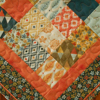 Quilted Square Table Topper in Moda's Persimmon Collection