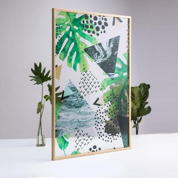Green Plants 32.0'' Mural Painting