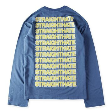 qiyif VETEMENTS Long Sleeve T-Shirts Mens Hoodie Sweat Straighthate