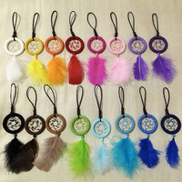 Mini Dreamcatcher Keychains by Slxys on Etsy