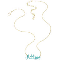 Full Name Monogrammed Necklace in Multiple Colors