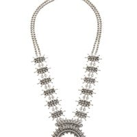 Lucky Brand Squash Blossom Necklace Womens - Silver (One Size)