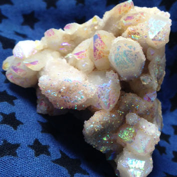 Rainbow Cactus Quartz Pyramid, Spirit Quartz Crystal, Healing, Metaphysical, Love, Happiness, Harmony, Fairy, Wicca, Reiki, Free Shipping