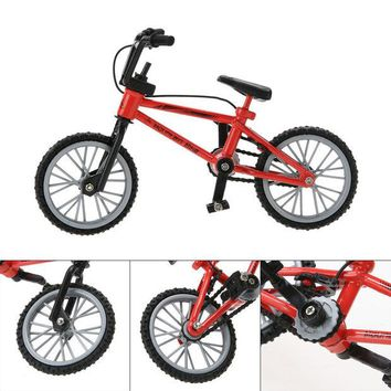 DCCKL72 New Baby toys Kids Functional Finger Mountain Bike + Spare Tire + Tools Fixie Bicycle Model Kits Children gifts