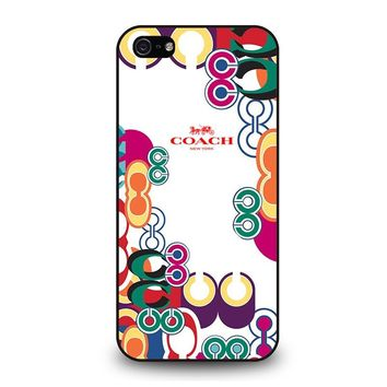 COACH NEW YORK COLOR iPhone 5 / 5S / SE Case Cover