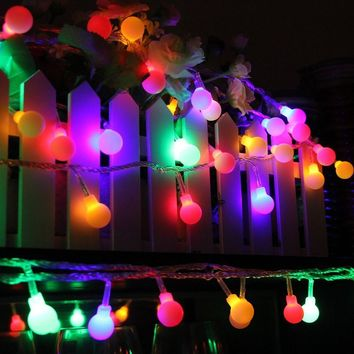100 Multi Color Globe LED String Lights