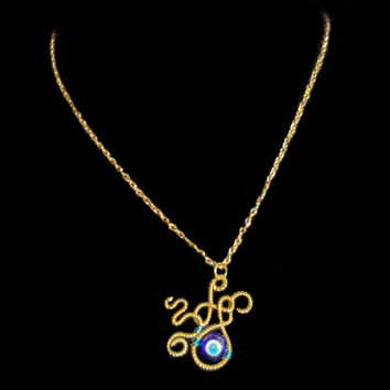 Evil Eye Monster Necklace