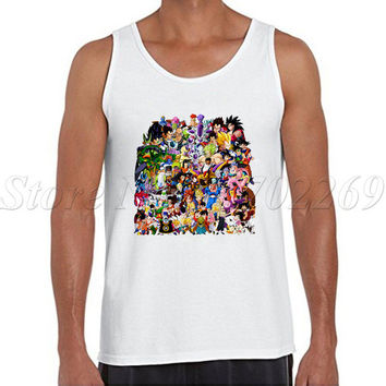 Dragon Ball Z Anime men tank tops Insane Amount Of Characters cartoon printed Male Vest hipster o-neck casual singlets