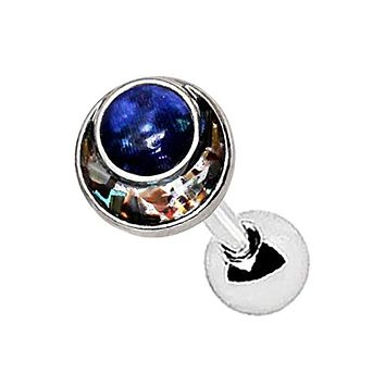 316L Stainless Steel Galaxy Abalone Inlay WildKlass Cartilage Earring
