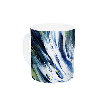 "Josh Serafin ""Greenroom"" Green Surfer Ceramic Coffee Mug"