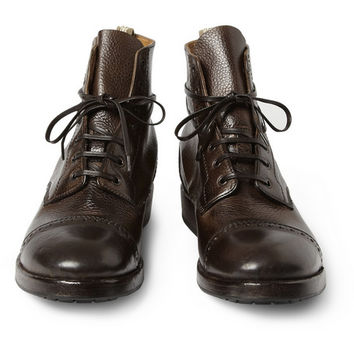 Officine Creative Full-Grain Leather Brogue Boots | MR PORTER