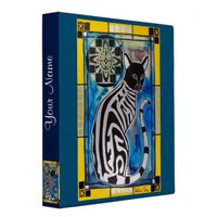 Add Your Name Cat with Mandala Binder