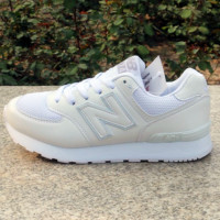 NEW BALANCE Women Men  Casual Running Sport Shoes Sneakers White