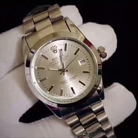 ROLEX Fashion Leather Quartz Movement Watch Wristwatch