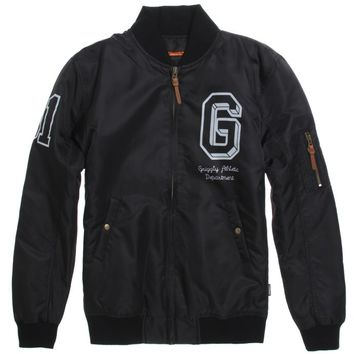 Grizzly High Bomber Jacket - Mens Jacket - Black