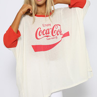 Wildfox - Coca Cola Sunday Morning Tee - Vintage Lace