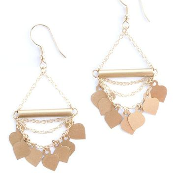 Mata Traders - Chain Of Spades Gold Earrings