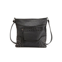 SPIKE & ZIPPER CROSS-BODY BAG