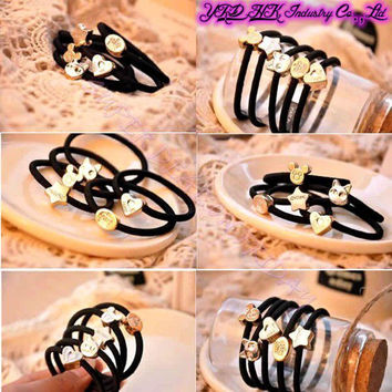 Hot Selling!! 10 Pcs Fashion Girl Elastic Hair Rubber Band Rope Scrunchie Ponytail Holder Bands
