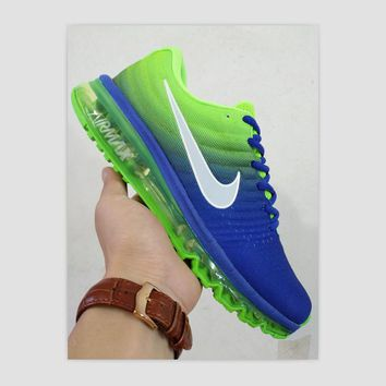 NIKE Women Men Running Sport Casual Shoes Sneakers Blue Green