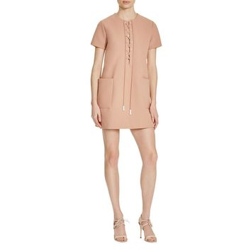Kendall + Kylie Womens Lace Up Short Sleeves Clubwear Dress