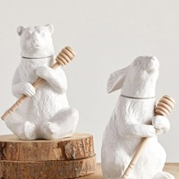 Creative Co-Op Ceramic Bear Honey Pot | Nordstrom