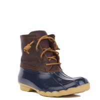 Sperry Saltwater Duck Boots - Tan/Navy