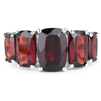 13.45TCW Cushion Cut Natural Red Garnet Ring