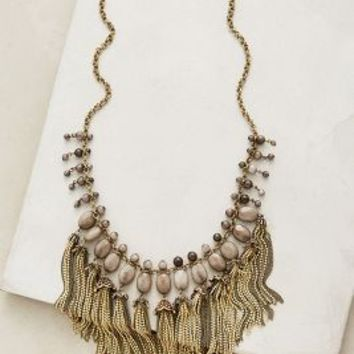 Teralyn Tassel Necklace by Anthropologie in Grey Size: One Size Necklaces