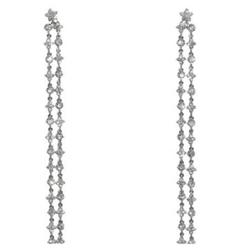 Mysta Long CZ Linear Chandelier Earrings | Cubic Zirconia