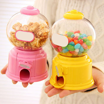 2016 Creative Hot New Cute Sweets Mini Candy Machine Bubble Gumball Dispenser Coin Bank Kids Toy Warehouse Price Chrismas gift