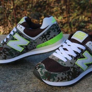 CREYONV new balance sport casual camouflage n words breathable unisex sneakers couple running shoes