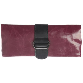 Shiraleah Harper Vegan Clutch Bold Berry Color