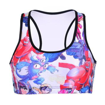 Sport Tank Tops Woman Gym Yoga Bras Quick Dry Elastic Y-Strap Vest Breathable Quakeproof Cup Sleeveless Garment Super Marines Shirt LNSsb