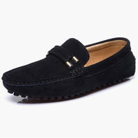 Comfy Suede Leather Metal Details Loafer Shoes